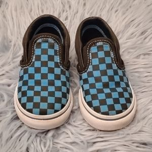 Vans Classic Checkerboard Slipons - Toddlers